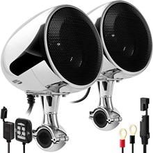 Aileap SPK350 Pro ulepszony 4 Cal wodoodporny motocykl ATV Stereo głośniki z Bluetooth z wbudowanym wzmacniaczem 300W USB AUX MP3