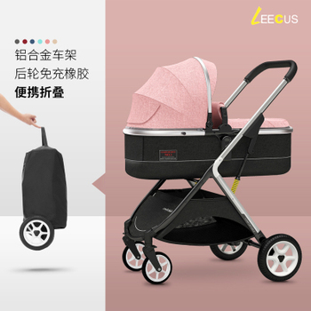 цена Stroller Can Sit Reclining Light Portable Simple Folding High Landscape Two-way Shock Baby Stroller онлайн в 2017 году