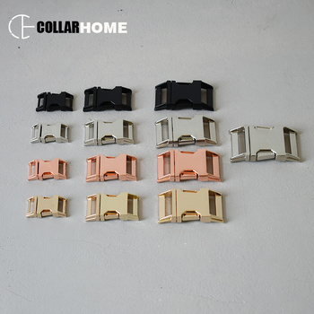 50pcs 15mm 20mm 25mm 30mm nickle plated metal quick release buckle snap hook DIY dog collar bag paracord backpack accessories