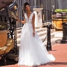 Волшебная ость 2021 v образный вырез свадебные платья с кружевной