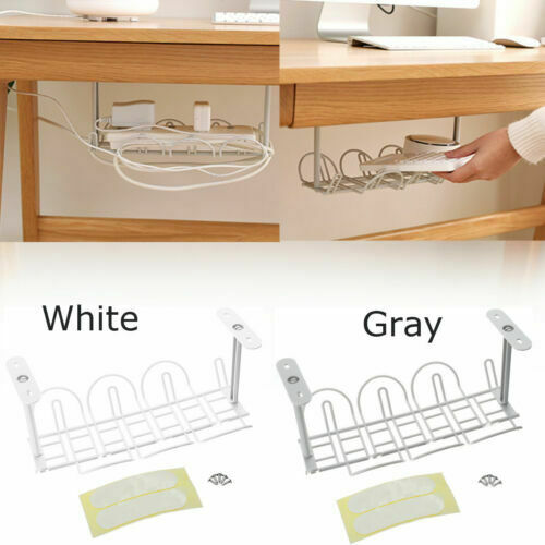 New Home Living Room Storage Rack Under Desk Cable Management Tray Wire Cord Power Strip Adapter Organizer Shelf