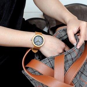 Image 5 - BOBO ptak bambusa kobiet zegarki skórzany pasek kwarcowy analogowy drewna zegarki relogio feminino w szkatułce zaakceptować Logo