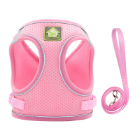 Pink-Reflective Puppy Cat Harness Vest