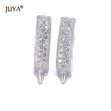 Креативное Золотое серебряное ушное кольцо с австрийскими кристаллами, серьги для рукоделия, женские серьги для изготовления ювелирных изделий, застежки-крючки