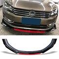 Voorbumper Spoiler Protector Plaat Lip Body Kit Carbon Oppervlak Decoratieve strip Chin Schop Voor Volkswagen VW Passat B7