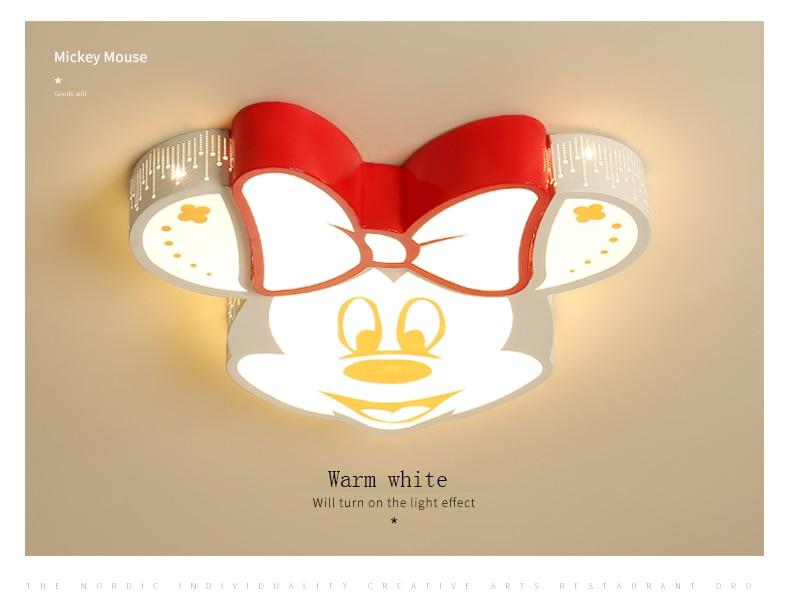 mickey luz do jardim de infância luz do quarto da lâmpada de teto