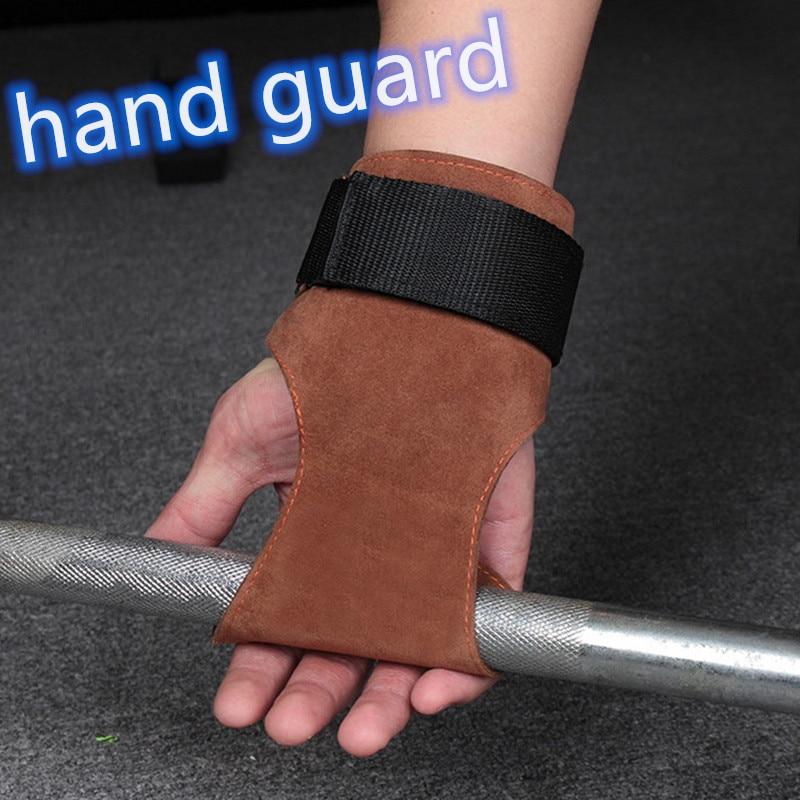 Leather Anti-skid Training Handle Handguards Large Area Full Palm Weight Lifting Protective Pad Raised Anti-skid To Enhance Grip