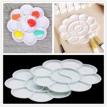 Палитра для рисования, 4 размера, лоток для рисования, пластиковая палитра для рисования акварелью, белая палитра для пигментов, лоток для рисования