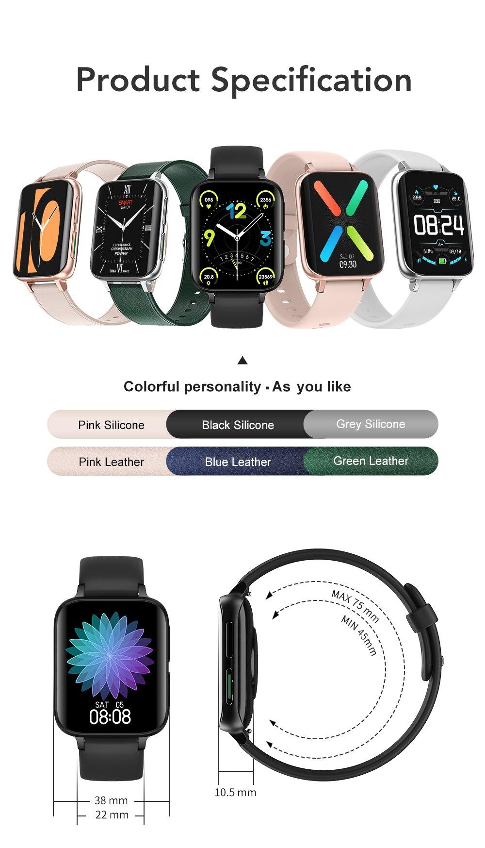 H979567bb6d374e1da82ba9f1bb305a58b SANLEPUS 2021 NEW Dial Calls Smart Watch Men Women Waterproof Smartwatch MP3 Player For OPPO Android Apple Xiaomi Huawei