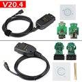 VAG COM 20,4 VAGCOM 20.4.1 HEX CAN USB интерфейс для VW AUDI VAG 19,6 многоязычный ATMEGA162 + 16V8 + FT232RL