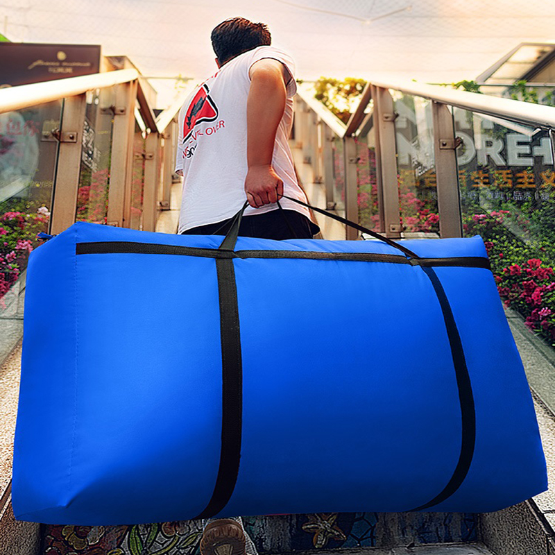 Large Capacity Moving House No Smell Travel Bag Oxford Cloth Woven Snakeskin 150L 180L Big Storage Bag Luggage Bag Sack Canvas