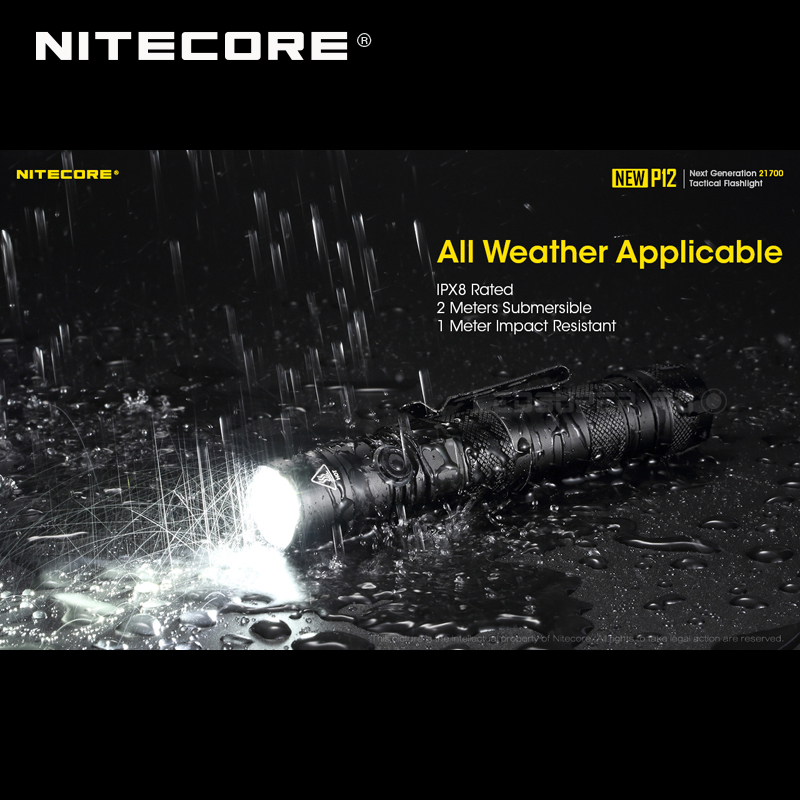 1200 Lumens Nitecore NEW P12 Next Generation 21700 Tactical Flashlight with NTH10 Holster - 6