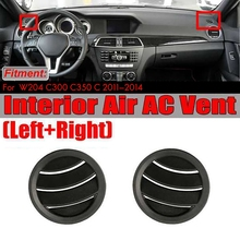 Left/Right Air A/C Vent for Mercedes W204 C300 C350 C630 C Class 2008-2010 Air Conditioning Vents Trim Covers Black