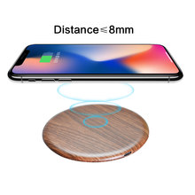 Fast Wireless Charger Wood For iphone 11 pro XS Max XR X 8 Plus 15W Qi Fast Wireless Charging Pad for Samsung S10 S9 Xiaomi mi 9(China)