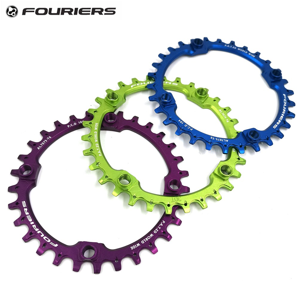 Fouriers Chainring 104bcd Mountain Bicycle Chainwheel AM FR DH Aluminum 30T <font><b>32T</b></font> 34T 38T 40TBike Crankset Parts image
