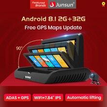 Junsun 7.84 자동 4G ADAS 자동차 DVR 대시 캠 FHD 1080P 후면보기 카메라 듀얼 렌즈 녹음 자동차 DVRs 레코더 GPS 백미러