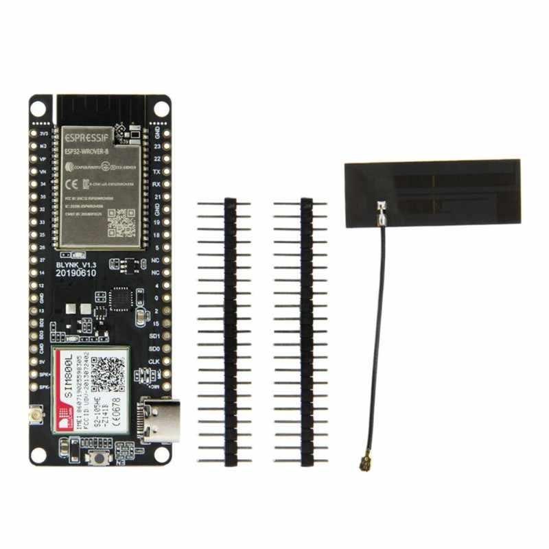 Ttgo t-call v1.3 esp32 módulo sem fio, placa de desenvolvimento do cartão sim da antena gprs 2.4 ghz sim800l para o telefone celular