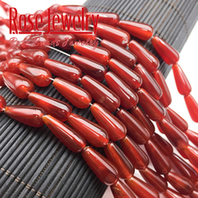 6*16mm Natural Red Agates Beads Water Drop Shape round Loose Stone Beads For Jewelry Making DIY Bracelet Ear Studs Accessories luck natural crystal stone obsidian bracelet 6 16mm amulet round beads stretch bracelet unisex for men women fashion jewelry
