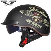 New Arrival Vcoros MT 4 Vintage Retro Motorcycle helmet open face helmet for Man Woman motorcycle scooter Moto helmet Jet casco