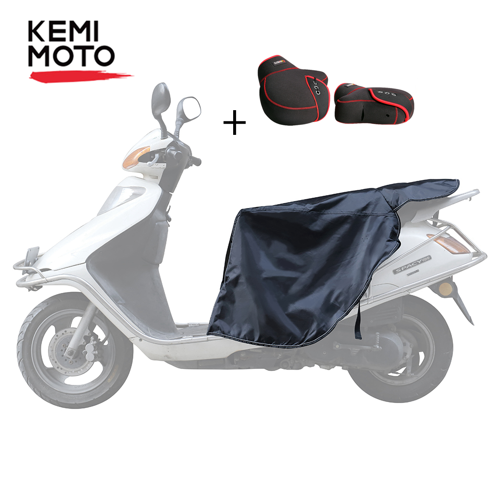 Universal Leg Cover For Scooters Rain Wind Cold Protector Knee Windproof Winter Quilt & Motorcycle Warm Gloves Mittens For Vespa
