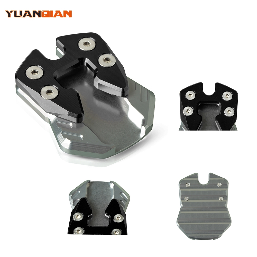 CNC Motorcycle Side Stand Accessories Titanium Chassis Black Kickstand Enlarger Support Extension For YAMAHA NMAX 125 155