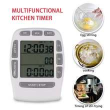 1 шт тройной таймер часы кухня приготовления 3 line Будильник
