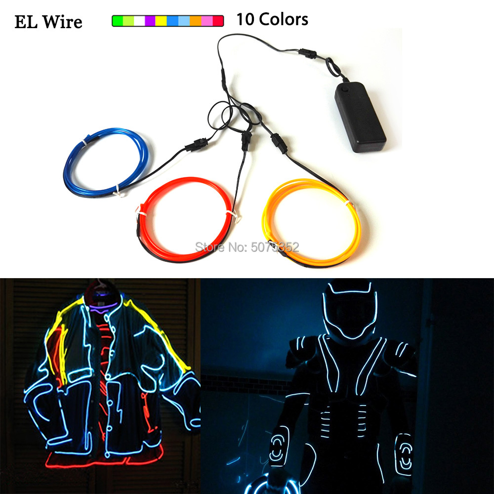 High Quality EL Wire Led Dance Party Decor Car Light EL Wire Rope Tube Flexible LED Strip For Garden Payday Party Decorative