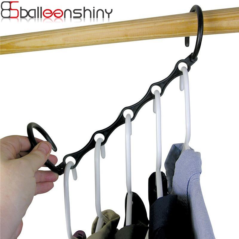 BalleenShiny Clothes Coat Hangers Organizer Plastic Multifunction Clothes Hangers Baby Clothes Drying Racks Storage Rack Hangers