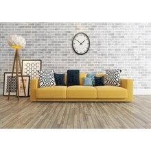 Fotostudio Props Achtergrond Grote Indoor Baksteen Muur Grijs Houten Vloer Sofa Vinyl Achtergrond Voor Portret Fotografie