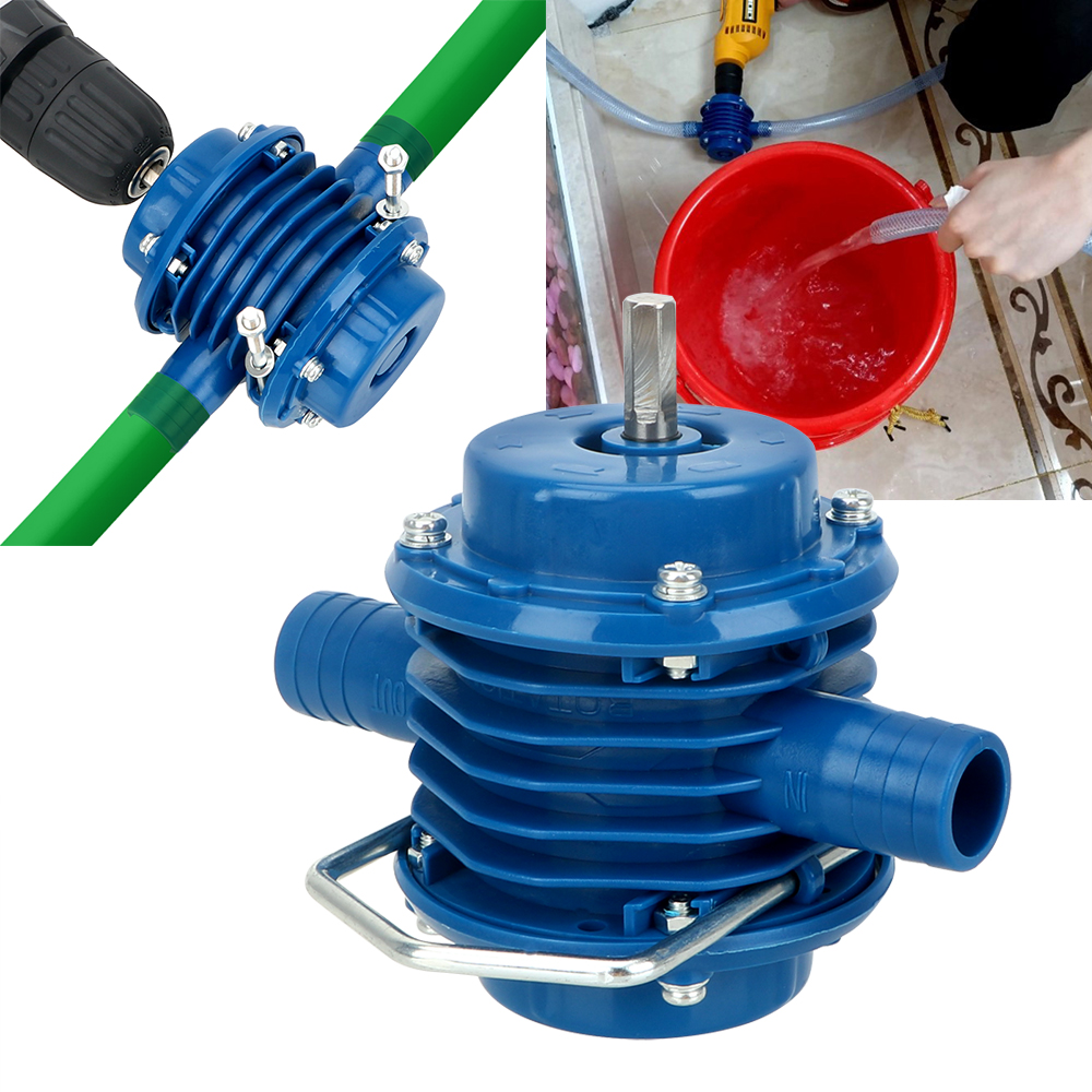 NICEYARD Mini Home Garden Centrifugal Pumps No Power Required Heavy Duty Self-Priming Hand Electric Drill Water Pump