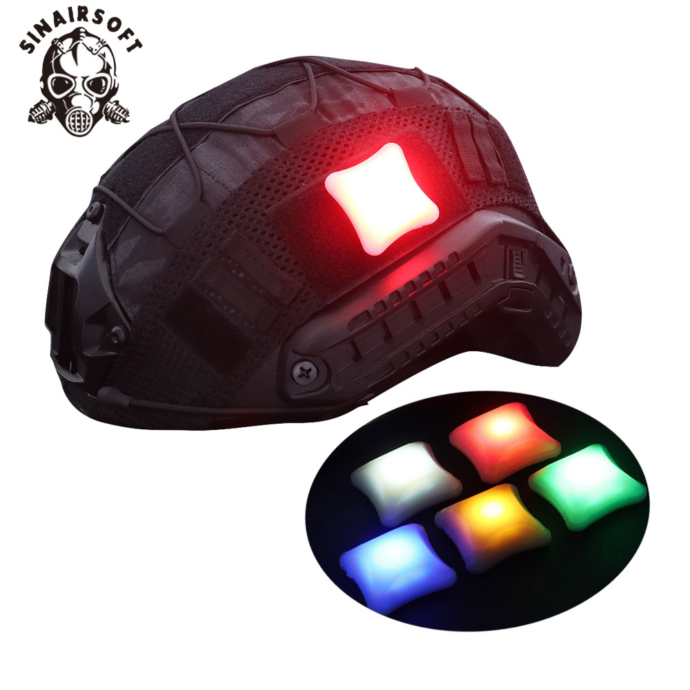 Tactical Safety Indentification Light For Helmet Military Survival Signal LED Warning Flashing Lamp Combat Airsoft Hunting