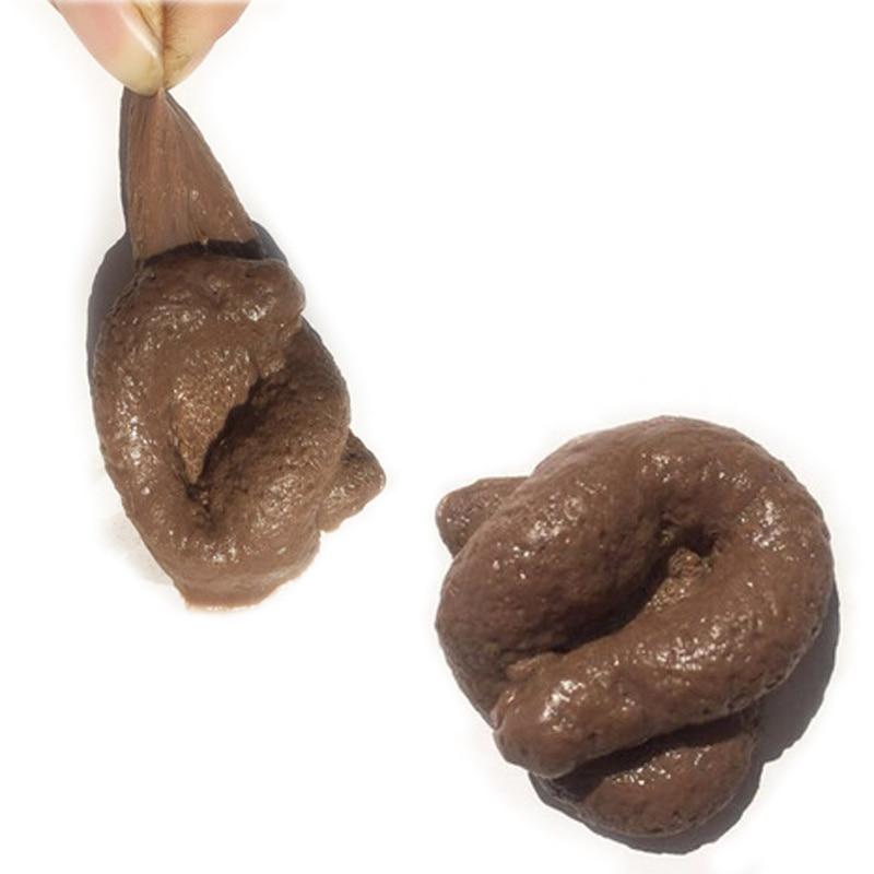Realistische Scheiße Geschenk Lustige Spielzeug Gefälschte Poop Stück Scheiße Streich Anti-Stress-Gadget Squish Spielzeug Witz Heikles Spielzeug Turd Unfug