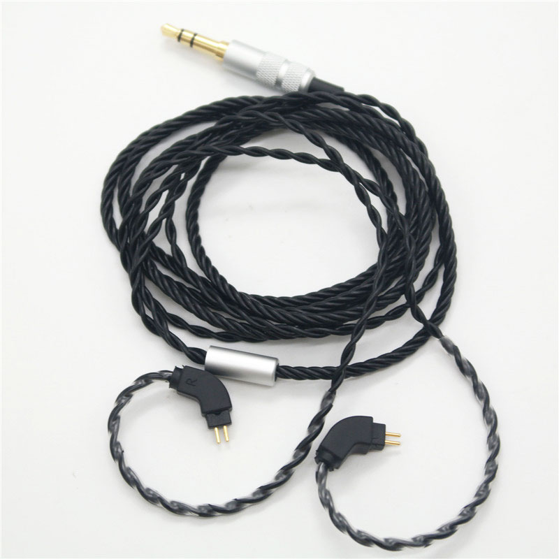 High-end in-line 4 shares DIY headphone upgrade line Audio line <font><b>2pin</b></font> <font><b>0.75mm</b></font> <font><b>cable</b></font> for TF10 and earphone headphones Change <font><b>cables</b></font> image