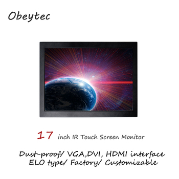"""Obeytec 17"""" touch display with IR touchscreen, vandal proof, dust proof, 2-10 touch points, VGA,DVI,HDMI available, 1280*1024"""