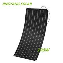 100 w etfe painel solar flexível de pouco peso monocristalino do filme fino 100 watts para o marinho & rv/barco/outras aplicações fora da grade