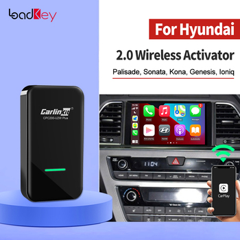 LoadKey & Carlinkit 2.0 CarPlay Wireless Android Auto Activator For Hyundai Palisade Sonata kona Ioniq Azera Smart USB Dongle image