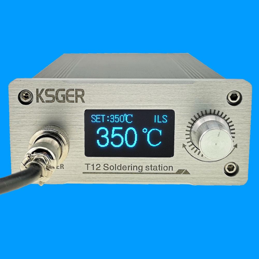 KSGER T12 паяльная станция STM32 V3.1S OLED DIY из алюминиевого сплава FX9501 ручка электрический держатель инструментов Автоматический Режим сна Быстрое ...