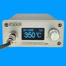 Ksger t12 estação de ferro de solda stm32 v3.1s oled diy liga de alumínio fx9501 lidar com ferramentas elétricas titular auto-sono calor rápido