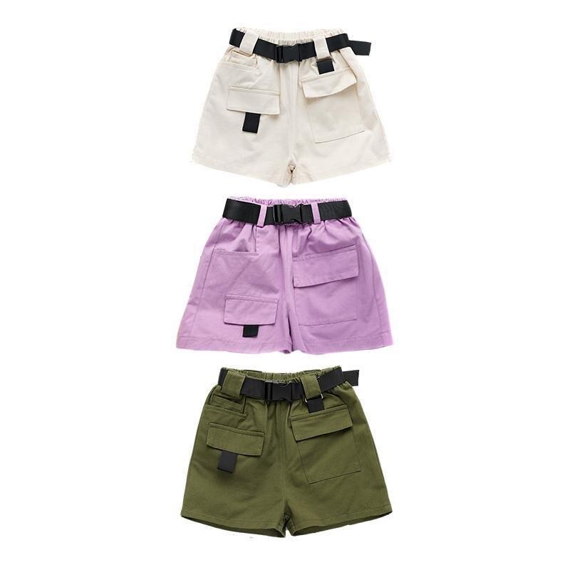 Pantalones Cortos De Verano Para Adolescentes Vaqueros De Cintura Alta Con Cinturon Ropa Bonita Para Ninos De 3 A 12 Anos 2020 Pantalones Cortos Aliexpress