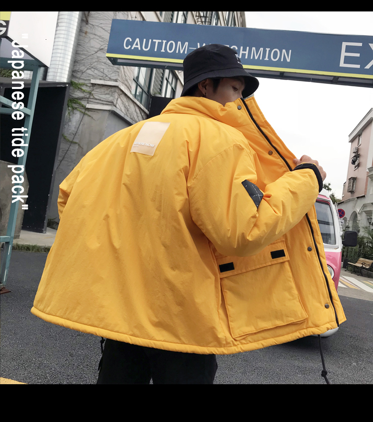 Men's Quality Student Winter Clothes Jacket Men Parka Thick Warm Outwear Korean Youth Streetwear Hip Hop Japan Style Harajuku 16