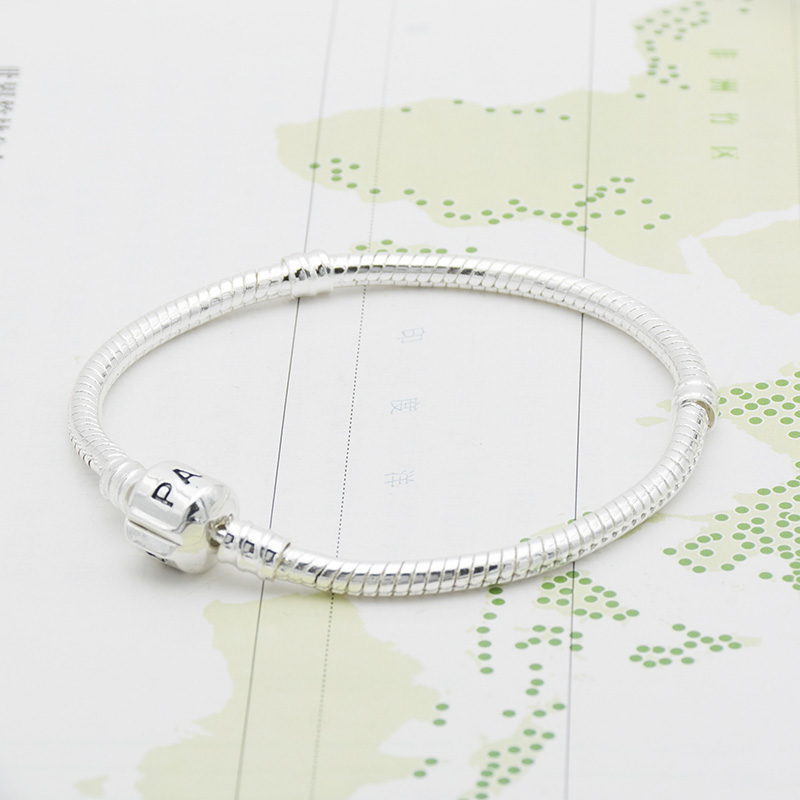 Basic Chain DIY Bracelet Silver Color Silver Serpentine Chain High Density Chain