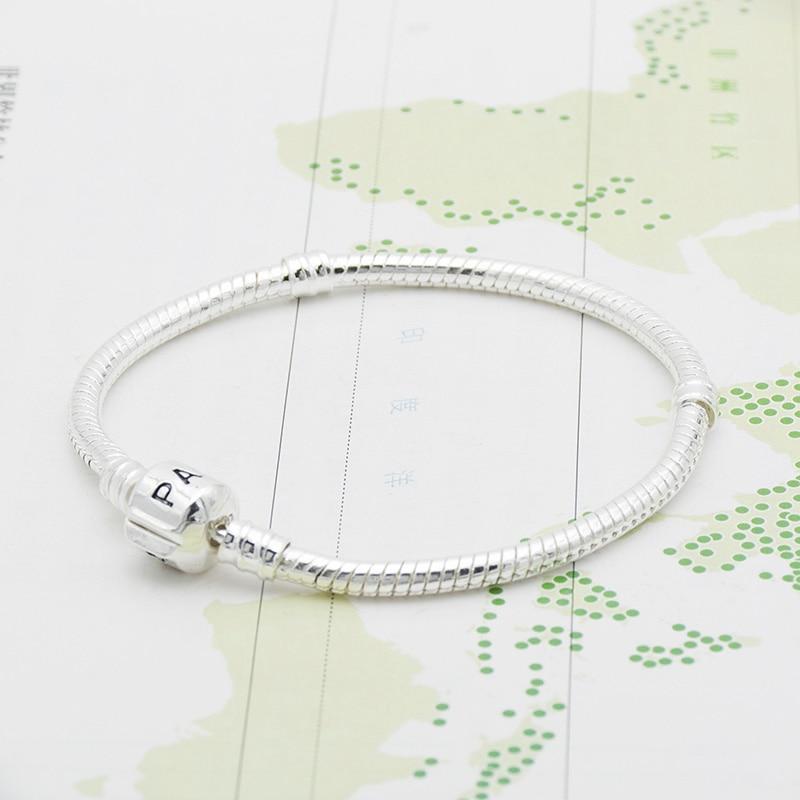 Basic Chain DIY Bracelet Silver Color Silver Serpentine Chain High Density Chain
