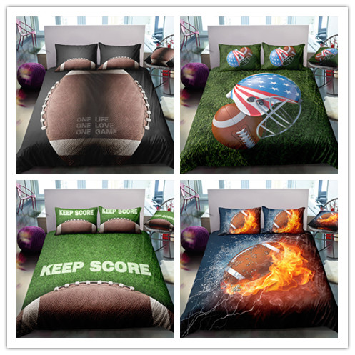 3D Football Printing  Bedding Sets Rugby Matches Printing Sports Youth Loving New Style 2/3 Pcs