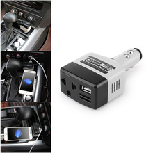 Adaptador do conversor do inversor da potência do carro 12 v 5.7 v com carregador de usb conversor do inversor dos conversores do carro 3.5*11.3*220 cm do entalhe do inversor do carro