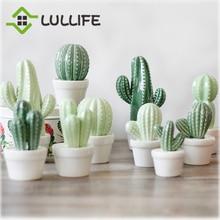Artificial Cactus Ornament Home Creative Ceramic Crafts Table Desktop Miniature Figurines Office Home Decoration Accessories