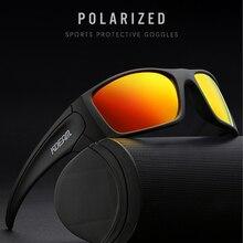 KDEAM 유니섹스 직사각형 편광 선글라스 남성용 등산 스포츠 선글라스 리얼 코팅 렌즈 TR90 프레임