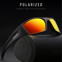 Kdeam unisex retangular polarizado óculos de sol para homem correndo escalada esportes óculos de sol lente tr90 quadro revestido real
