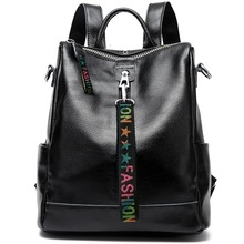 2020 Women 100% Genuine Leather Backpacks Teenage Girls Female Designer School Shoulder Bag Bagpack Women's Laptop Bags mochila