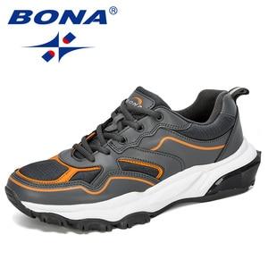 Image 4 - BONA 2019 New Designer Running Shoes Men Sports Outdoor Increased Bottom Sneakers Walking Athletic Shoes Man Jogging Footwear