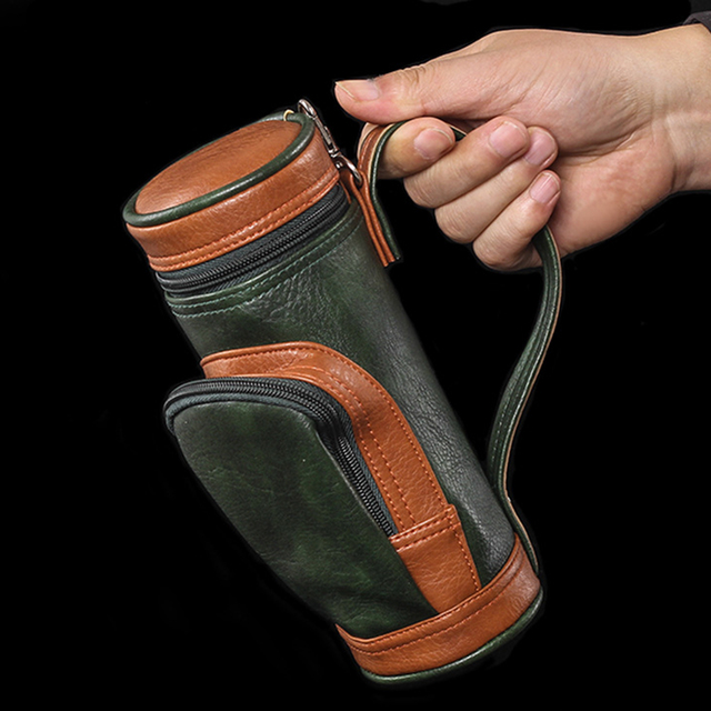 Multifunctional Functional Golf Cigar Bag Portable Cigar Case Holder With Cigar Cutter Suitable For Family Travel Camping Bags 3